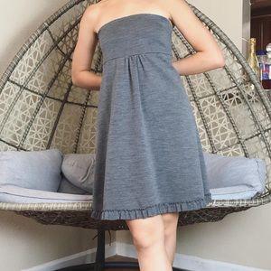 J Crew Strapless Mini Dress/ Midi Skirt - Grey